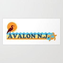 Avalon - New Jersey. Art Print