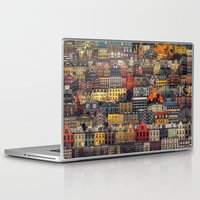 copenhagen Laptop & iPad Skins featuring Copenhagen Facades by Siddharth Dasari
