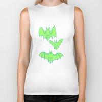 bats Biker Tanks featuring Bats by idrewthestars