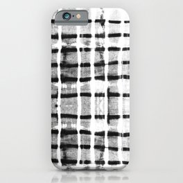 Shibori black dash lines iPhone Case