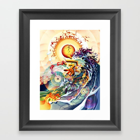 Japan Earthquake 11-03-2011 Framed Art Print