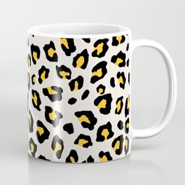 Leopard Print - Mustard Yellow Coffee Mug