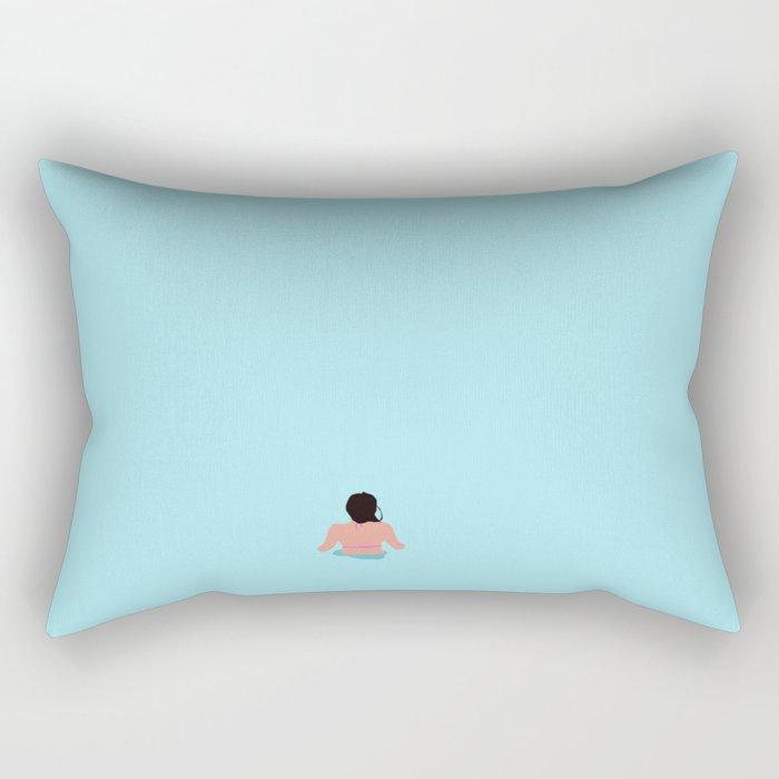 plava laguna Rectangular Pillow
