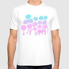 Gradient Roses MEDIUM Mens Fitted Tee White