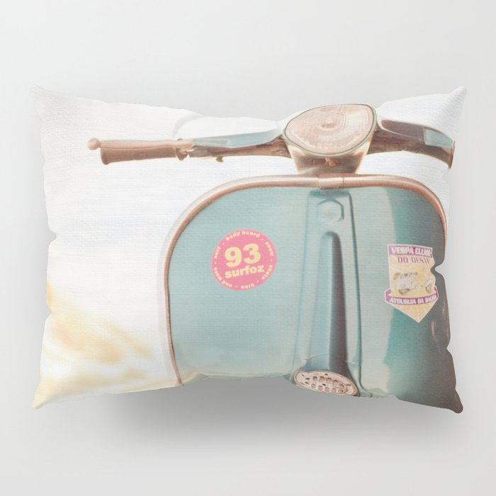 The Blue Vespa Pillow Sham