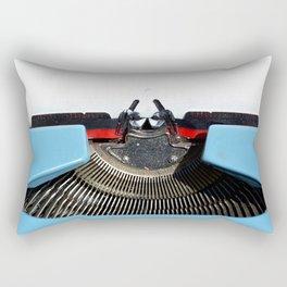Vintage Blue Typewriter Rectangular Pillow
