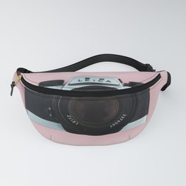 Camera on Blush Pink Background Fanny Pack
