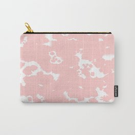 Rosequartz -marble pantone color art print decor minimal pastel pink girly hipster marbled   Carry-All Pouch
