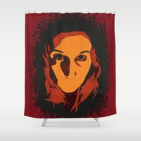 horror Shower Curtains featuring Horror by Square Lemon