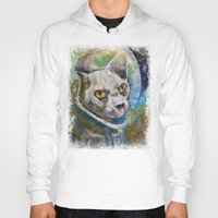 space cat Hoodies featuring Space Cat by Michael Creese
