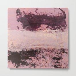 burgundy rose Metal Print
