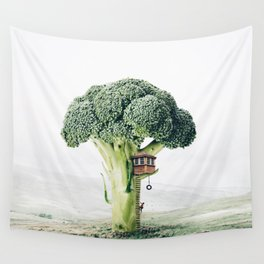 Broccoli House Wall Tapestry