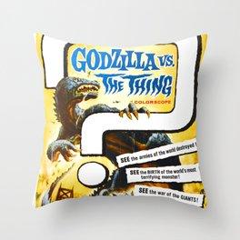 Godzilla vs. The Thing, 1964 Throw Pillow