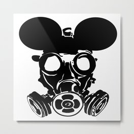 Gas Mouse Metal Print
