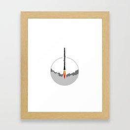 Oboe rocket Framed Art Print