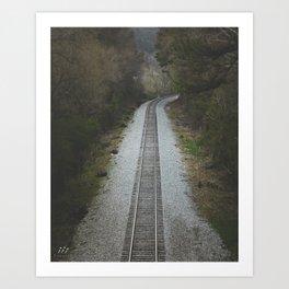Track to Nowhere Art Print