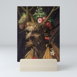 Four Seasons In One Head - Giuseppe Arcimboldo Mini Art Print