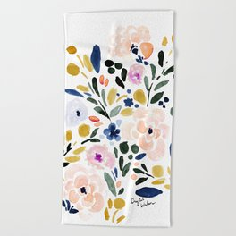Sierra Floral Beach Towel