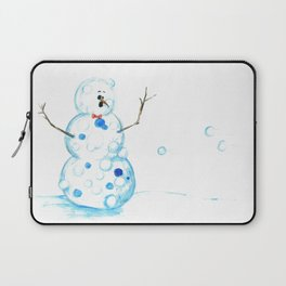 Snowman in a Snowball Fight! Laptop Sleeve