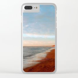 Winter Walk on the Beach by Reay of Light Photography Clear iPhone Case