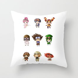 Chibi Goggles Throw Pillow