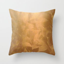 Brushed Copper Metallic - Beautiful - Rustic Glam - Fancy Faux Finishes - Unique Throw Pillow
