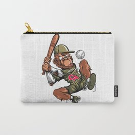 Baseball Monkey - Teak Carry-All Pouch