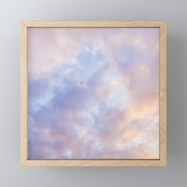 Pink sky / Photo of heavenly sky Framed Mini Art Print