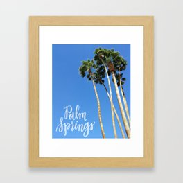 Palm Springs Palm Trees Calligraphy Framed Art Print
