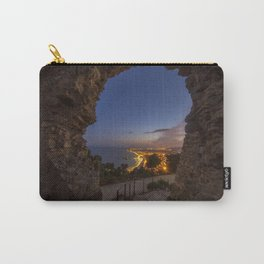 View of Blanes at night Carry-All Pouch