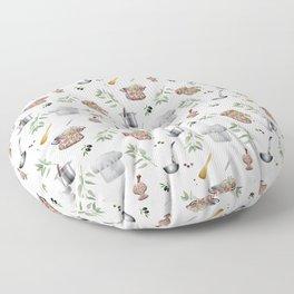 Kitchen utensils,chef,cooking pattern  Floor Pillow