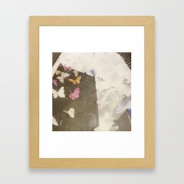 You Give Me Butterflies Framed Art Print