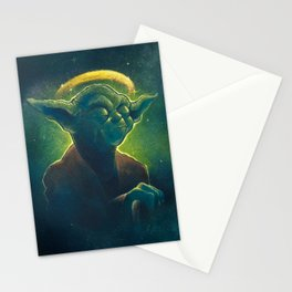 The Contemplation of Saint Yoda Stationery Cards