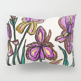 Iris with glitter Pillow Sham