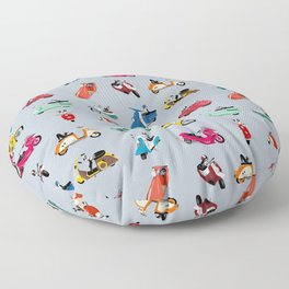 Boogie On Scooters Floor Pillow