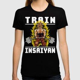 TRAIN INSAIYAN (Goku Deadlift) T-shirt