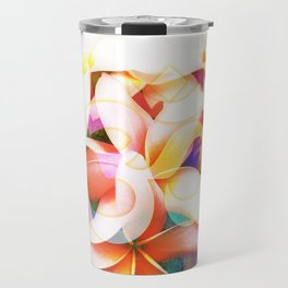 Yoga Om Frangipani Pagoda Flower Travel Mug