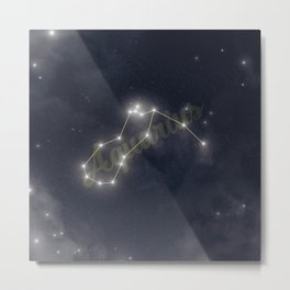 Aquarius Constellation - Zodiac Metal Print
