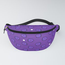 Purple flowers on purple Fanny Pack
