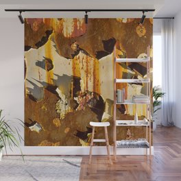 Paint on rust Wall Mural