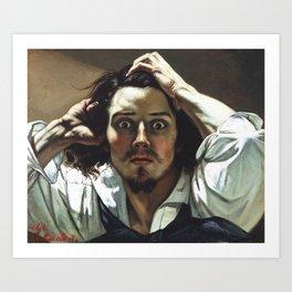 Gustave Courbet-The Desperate Man Art Print