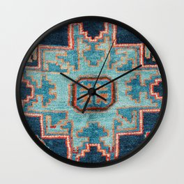 Karabakh  Antique South Caucasus Azerbaijan Rug Print Wall Clock