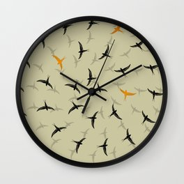 spiral birds Wall Clock