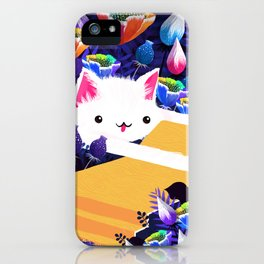 Piano Cat in the Forest iPhone Case