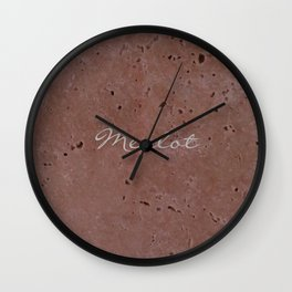 Merlot Wine Red Travertine - Rustic - Rustic Glam Wall Clock