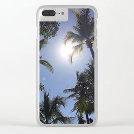 tulum palms Clear iPhone Case