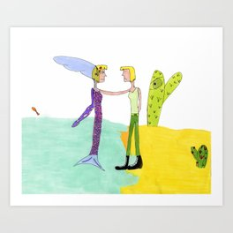 Meeting Myself Art Print