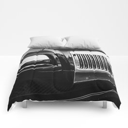Rolls Grille // Black Luxury Car Close Up Photography Expensive Ultra Wealthy Autos Comforters