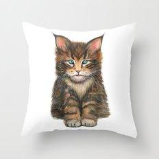 Little Kitten II Throw Pillow