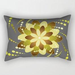 Green On Grey Rectangular Pillow